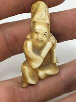 Netsuke Japonais  XIX EME Meji Japon Japan Musicien Asiatique 19th Statuette