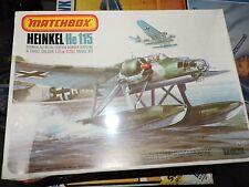 MATCHBOX 1/72nd SCALE He115 HEINKEL ON FLOATS # PK-401