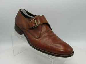 Cole Haan Williams II C11826 Sz 10.5 M Brown Leather MonkStrap Loafer Mens Shoes