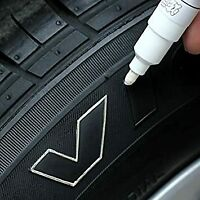 CAR TYRE PEN | WHITE | PAINT MARKER PEN TIRE FOR TYRES METAL FABRIC PERMANENT