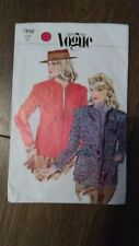 Vintage Very Easy Vogue Jacket Sewing Pattern Size 10 #7802