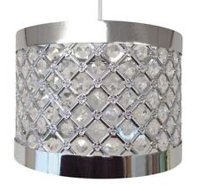 Moda Sparkly Ceiling Pendant Light Shade Fitting Silver