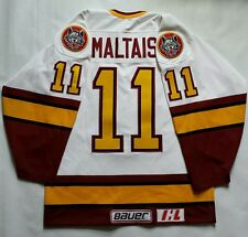 Vintage Steve Maltais Chicago Wolves Bauer Authentic Jersey Size 44