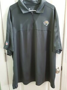 NFL Nike Dri fit 3XL gray Jacksonville  Jaguars short sleeve polo with 1/4 zip.