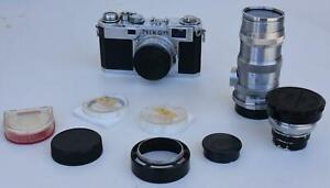 Nikon Nippon Kogaku S 2 6141581 Nikkor C 1:3.5 f=3.5cm #436709  Q.C 13.5cm F/3.5