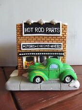 Holiday Time Christmas Village Hand Painted Hot Rod Parts 10282 Cali Creations