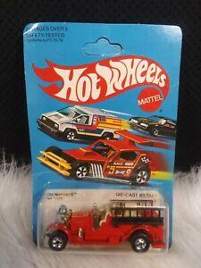 1981 Vintage Hot Wheels Old Number 5 Fire Engine 1695 Red