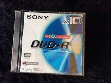 SONY DVD + R X10 4.7cb 120 Mins New Sealed