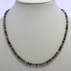 Tourmaline Quartz Chain 925 Silver Gemstone Necklace Discs Necklace