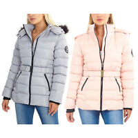 BRAVE SOUL LADIES WOMENS WINTER WARM JACKET QUILTED THICK COAT TOP HOODED PARKA