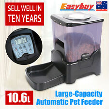 10L Automatic Program Auto Digital Pet Cat Dog Feeder Food Bowl Dispenser New