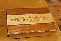 Vintage Italian Jewellery Music Box Inlaid Wood Marquetry Mapsa Torna A Sorrento