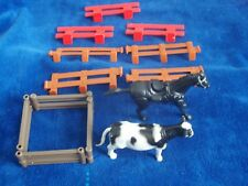 Plastic Toy Fence 11 Pieces Farm Ranch + Cow, Horse