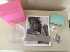 Diana: a Celebration Exhibit Glass Bowl, GuideBook and Silver Bookmark