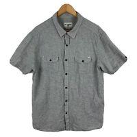 Billabong Mens Button Up Shirt Size XL Grey Short Sleeve Button Closure Collared