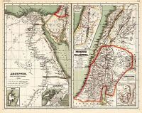 MAP ANTIQUE 1903 KIEPERT EGYPT PALESTINE OLD LARGE REPLICA POSTER PRINT PAM0414