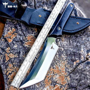 Trailing Point Knife Handmade Fixed Blade Survival Hunting Jungle Self Defense S