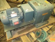 DODGE GEAR REDUCER TXM700-200-1 W/ 7.5HP RELIANCE MOTOR WITH BASE ASSEMBLED