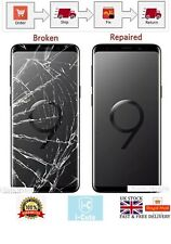 Samsung Galaxy S9 Cracked Screen Front Glass Repair Service (LCD must work)
