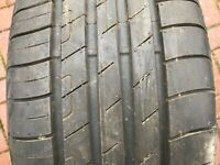 1 x  225 55 17 GOODYEAR EFFICIENT GRIP 7MM TYRE 225/55 R17 97W