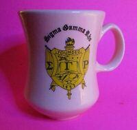 "Vintage SIGMA GAMMA RHO SORORITY 8"" Heavy ceramic Mug coffee"