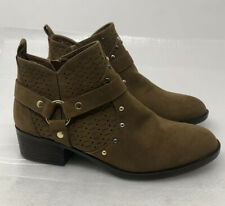 Dirty Laundry Womens Ankle Boots Fashion Chestnut Suede Size 7.5