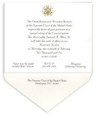 Invitation to the Investiture of Justice Samuel Alito