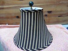 lamp shade Silk vtg Victorian Granite Marble Finial Brown gold brass interior
