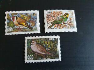 SYRIA 1989 SG 1722-1724 BIRDS MNH