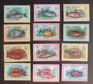 Tuvalu 1997 Fish Snapper SPECIMEN SG770/81 MNH UM unmounted mint