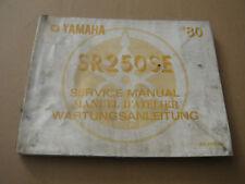 Yamaha SR250 SE Wartungsanleitung Stand 1982_Manuel D ´Atelier_Shop Manual_Buch