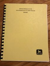 John Deere 60 and 70 Lawn Tractor Service Manual   SM 2092  SM2092 FREE SHIPPING