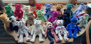 Ty Beanie Babies Bear Collection- Rare Bears!