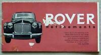 ROVER REFINEMENTS Car Sales Brochure c1957 #534 60-75-90-105R-105S