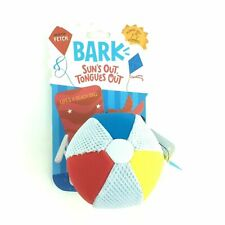 BARK Beach Ball Dog Toy Play Fetch & Water Resistant, For Medium to Large Dogs