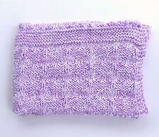 Soft Handmade Knit Baby Blanket ~ Afghan Throw ~ Shower Gift Nursery Bedding