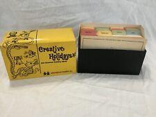 Vintage 1974 Creative Holidays 100 Unusual Ideas Educational Insight Inc. Cards