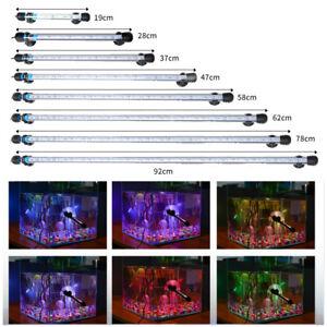 IP68 Waterproof RGB LED Aquarium Amphibious Submersible Light Fish Tank Lamp