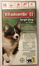 K9 Advantix Ii 21-55 lbs Flea Medicine Large L Size Dog 2 Month Pack Supply K-9