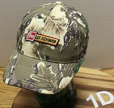 LES SCHWAB TIRES CAMO HAT ADJUSTABLE IN VERY GOOD CONDITION EMBROIDERED