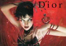 Publicité papier glacé - Hypnotic Poison de Christian Dior 2 pages