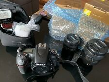 NikonD750 Full kit, 2 lenses attached, 1 sb700 flash and 2 memory cards
