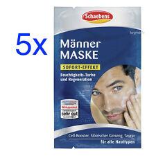 5x SCHAEBENS MännerMaske Gesichtsmaske Mann Taurin+Cell-Booster je 2x5ml