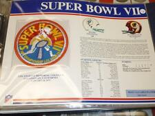 Miami Dolphins Washington Redskins Super Bowl 7 Fb Willabee + Ward Patch