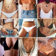 Women Summer Beach Bikini Bra Harness Necklace Waist Belly Body Chain Jewelry