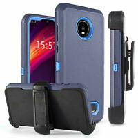 For Motorola Moto Z4 / Z4 Play Shockproof Otterbox Stand Armor Case Cover W/Clip