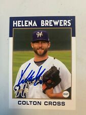 Colton Cross 2015 Signed Helena Brewers Team Card