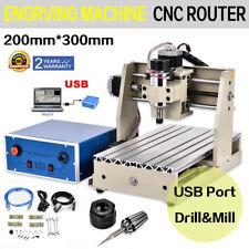 USB 3Achse Cnc Router 3020 Graviermaschine FräSmaschine 3D Milling FräSer 300W