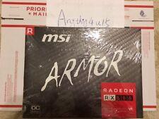 MSI ARMOR Radeon RX 580 8GB DirectX 12 RX580 8GB 8G OC GDDR5 FREE SHIPPING