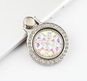 Universal 360 Rotating Crystal Finger Ring Stand Holder For Cell Phone / Tablet